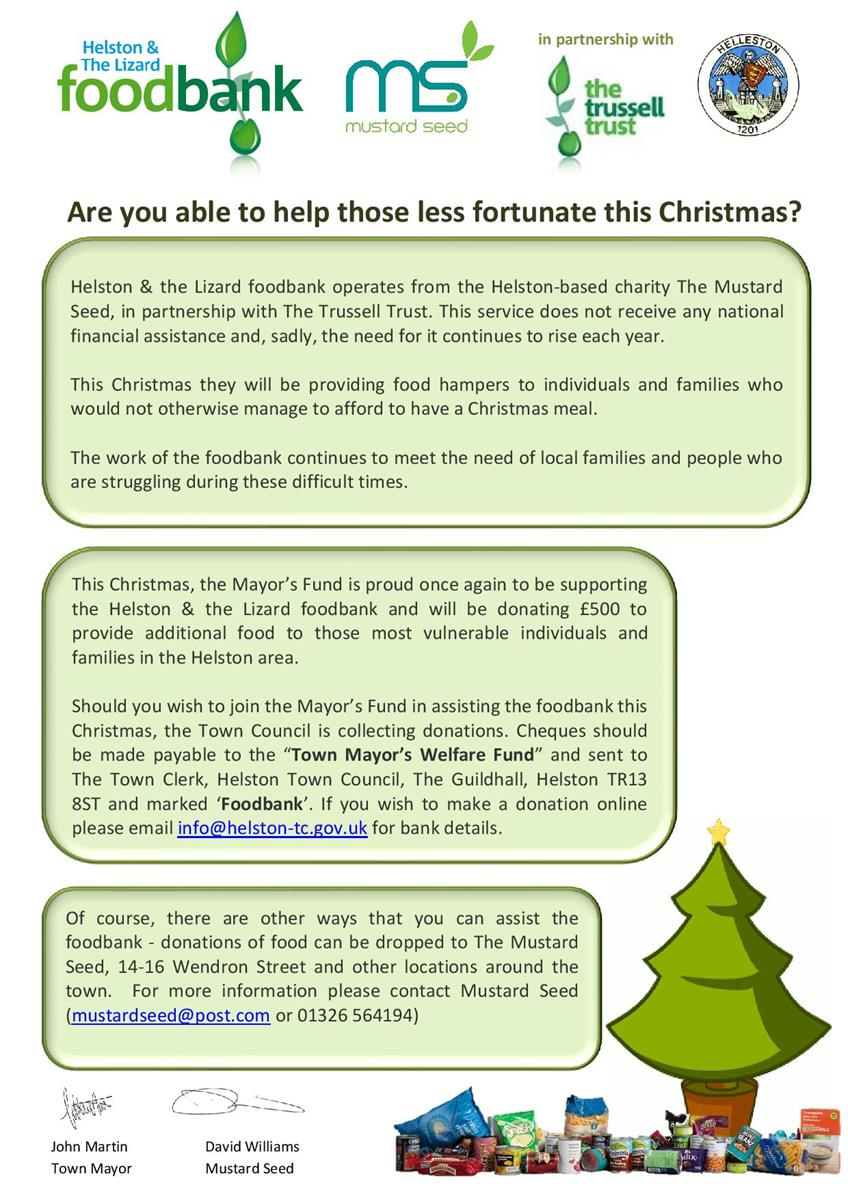 Foodbank Christmas Appeal 2020